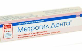 Зубная мазь метрогил дента