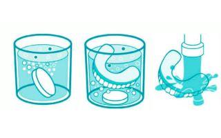 Таблетки корега для зубных протезов