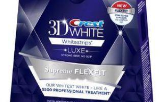 Отбеливание зубов crest 3d white