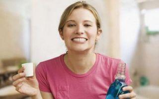 Полоскание зубов при боли