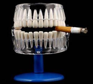 воздействие курения на зубы