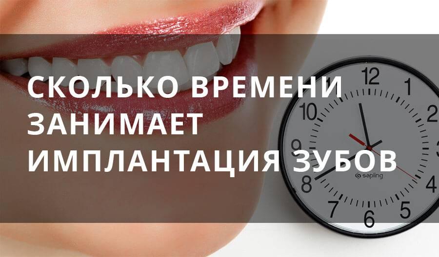 Сколько времение длится имплантация зубов