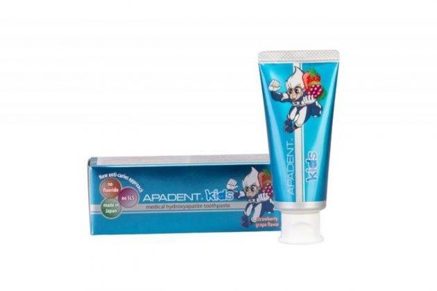 Японская зубная паста Apadent, якобы пломбирующая зубы, выпускается также для детей