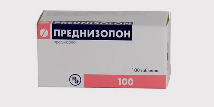 «Преднизолон» для лечения трещин на языке