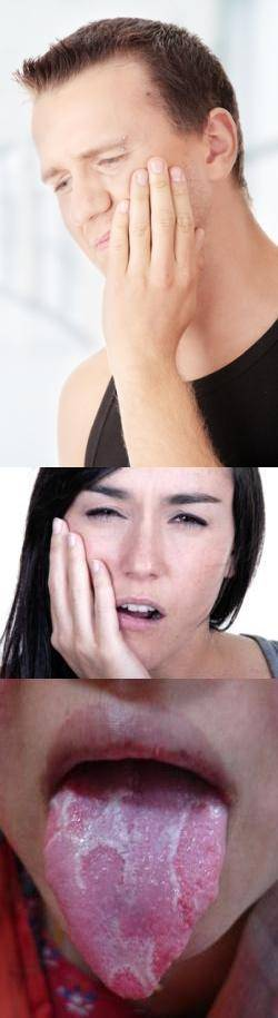 Красный кончик языка и болит