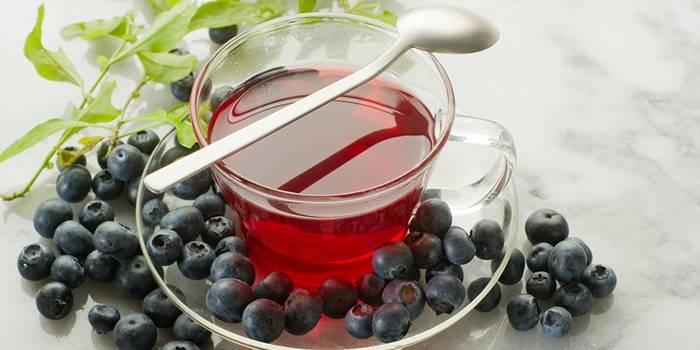 Чай с черникой от стоматита