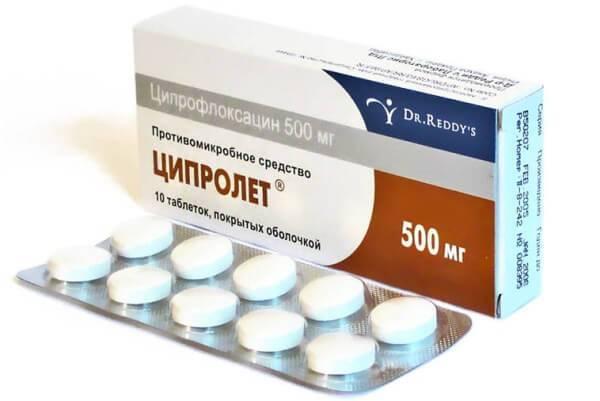 Ципролет антибиотик против зубной боли