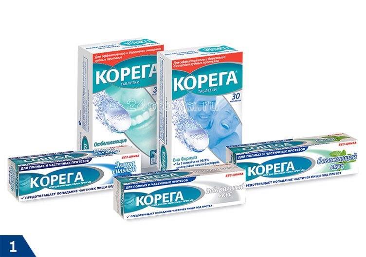 Таблетки протефикс для зубных протезов