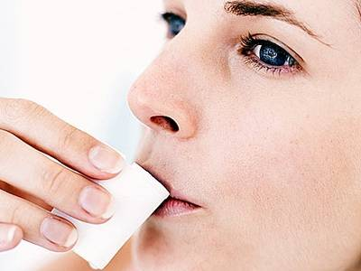Полоскание рта хлоргексидином